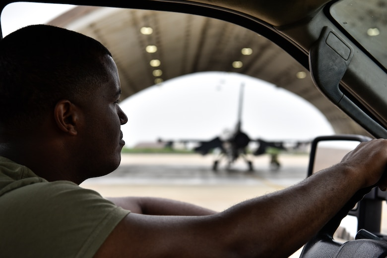 AGE drives by F-16