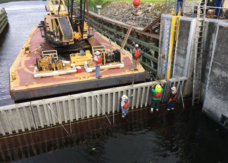 Needles have been placed almost completely across the lower end of the lock.