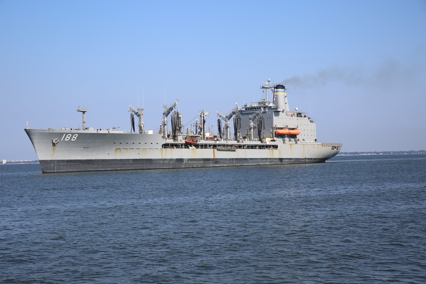 USNS Joshua Humphreys (T-AO 188) returned to Naval Station Norfolk, after completing a five-month deployment in the U.S. Fifth Fleet, responsible for Naval Forces in the Persian Gulf, Red Sea, Arabian Sea, and parts of the Indian Ocean, August 11.
