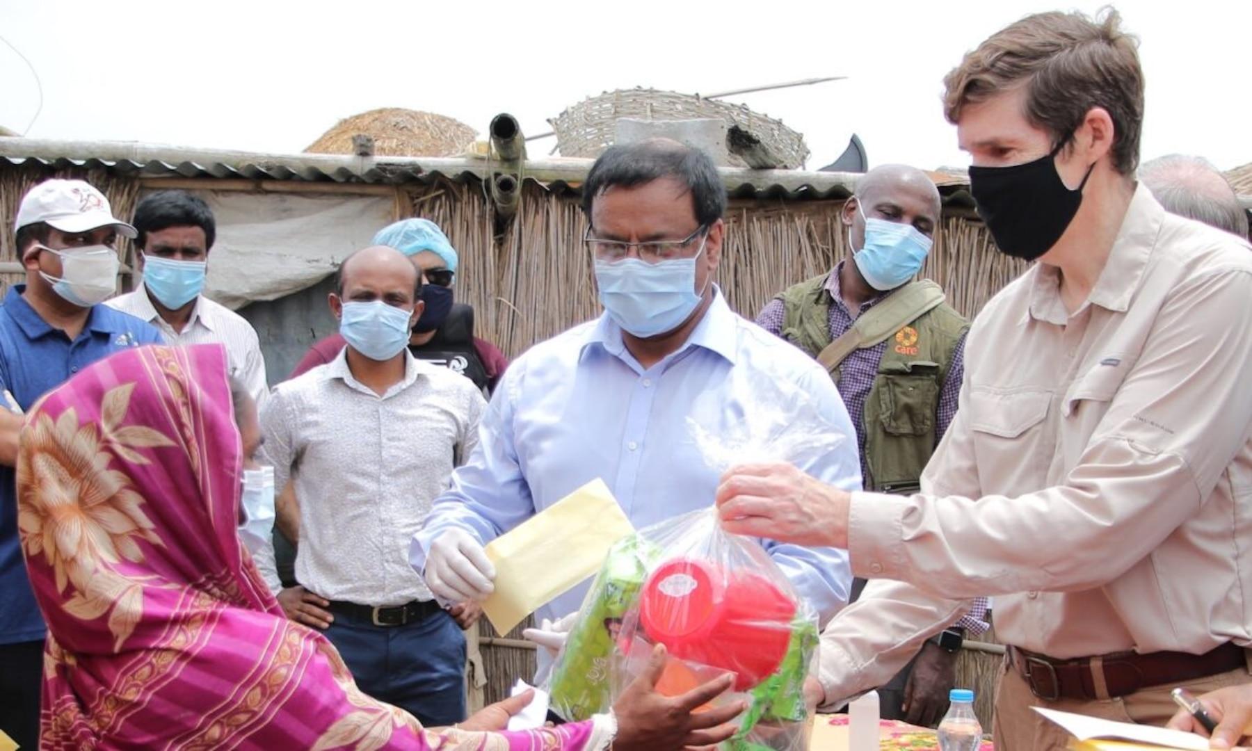 Ambassador Miller Visits Flood Affected Gaibandha, Bangladesh,  to Observe U.S. Assistance