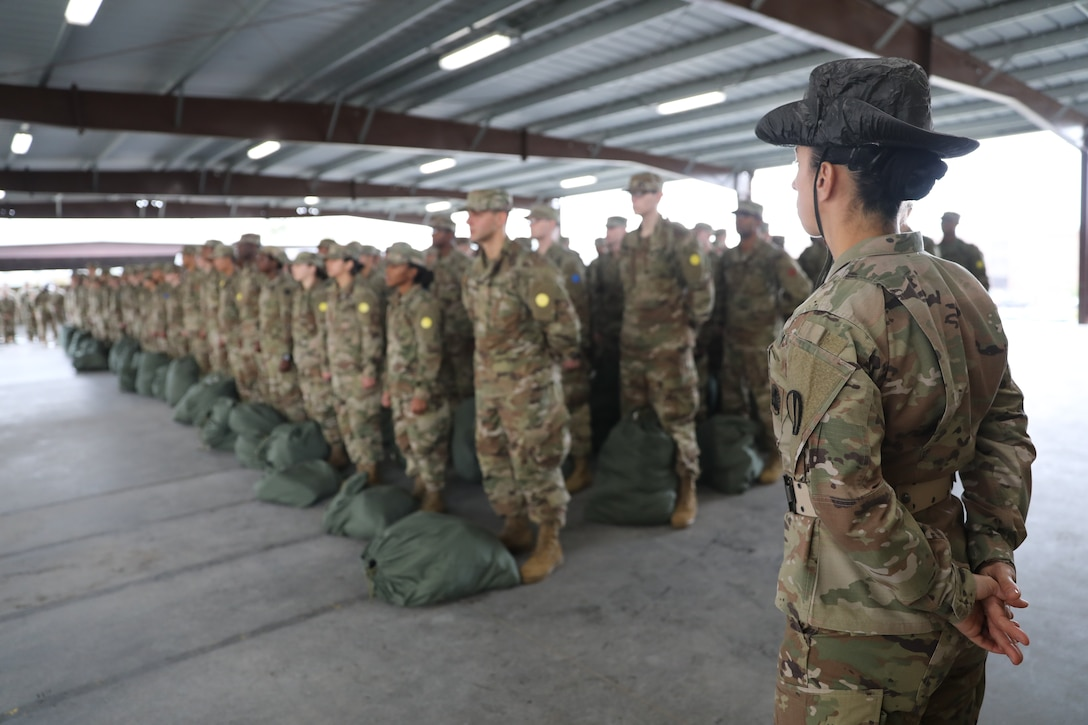 98th Training Division (Initial Entry Training) drill sergeant serves as senior drill sergeant leader at Drill Sergeant Academy