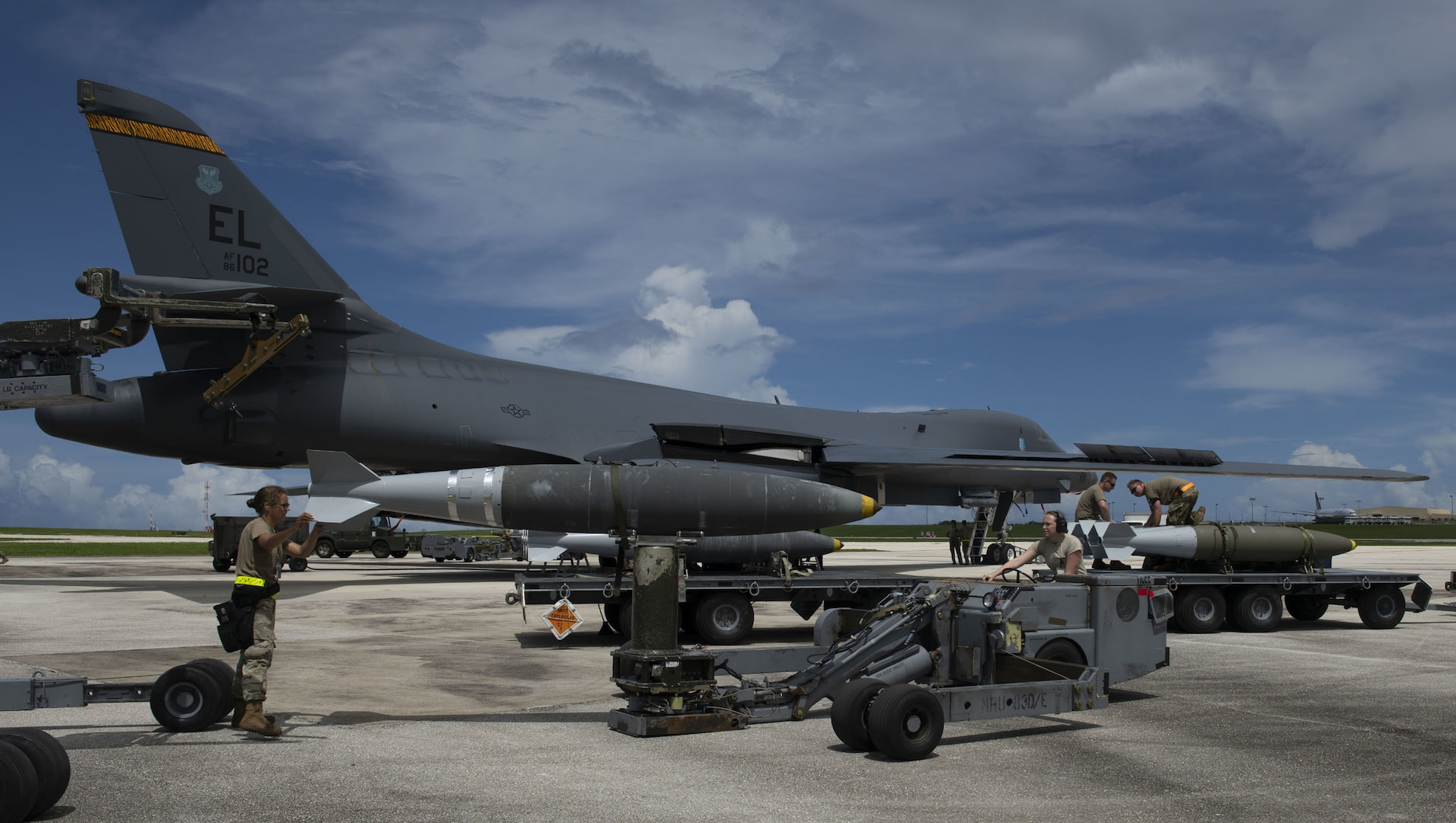 B-1 crew trains with Japan, USS Ronald Reagan in Indo-Pacific