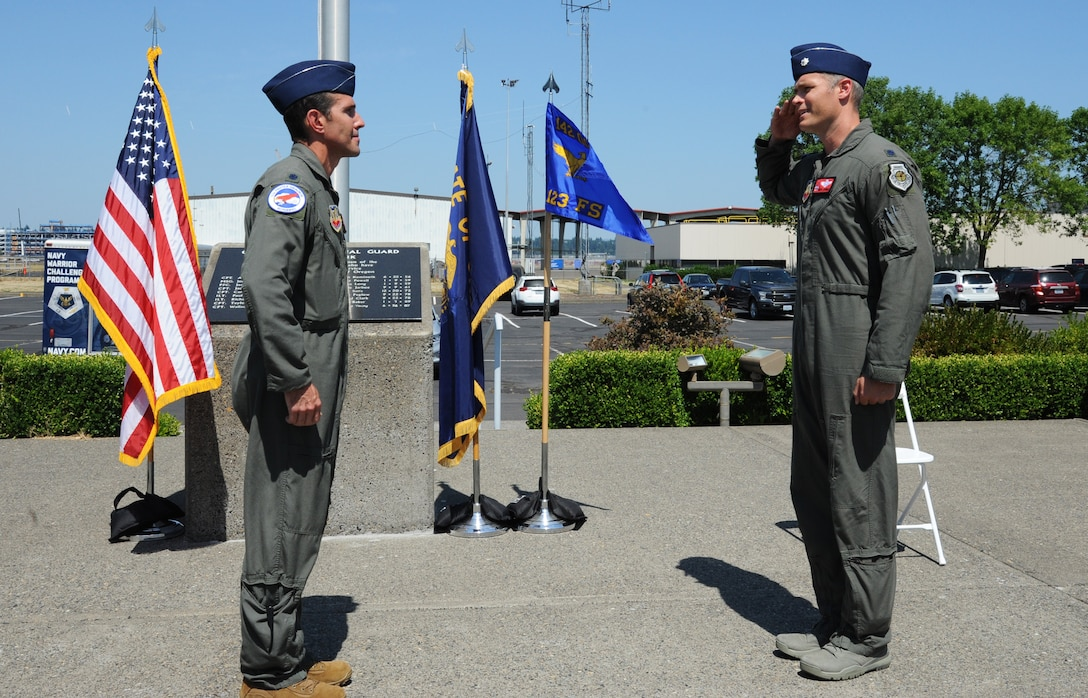 123rd Fighter Squadron Change of Command