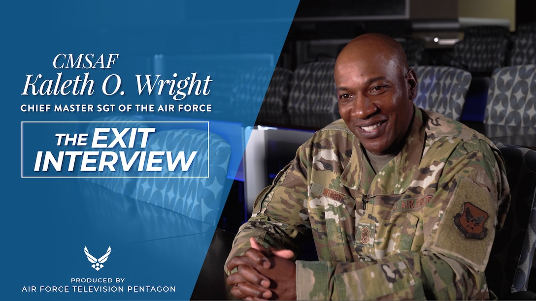CMSAF Kaleth O. Wright exit interview.