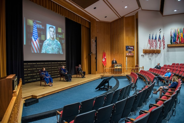An image of U.S. Army War College virtual graduation