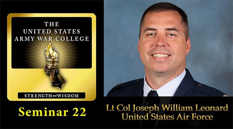 A graphic of U.S. Air Force Lt. Col. Joseph W. Leonard