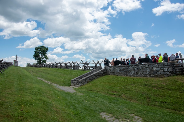 A photo of U.S. Army War College Distance Class of 2020 visiting Antietam National Battlefield