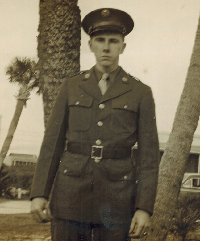 World War II man in uniform.