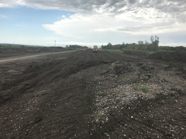 Levee repairs completed to B breach on Missouri River levee system L-536 near Corning, Missouri.
