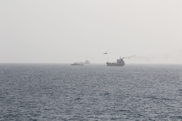 Motor Tanker (M/T) Wila was boarded by armed Iranian personnel from both an Iranian Sea King helicopter and the Iranian auxiliary vessel Hendijan (1401).