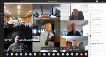 Screenshot of a virtual session during the U.S.-Brazil Space Engagement Talks hosted by U.S. Southern Command.