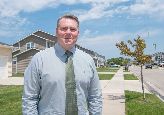 Mr. Robert Wagner, 22nd Wing Staff Agencies privatized housing resident advocate, bridges the gap between privatized housing and military residents Aug. 11, 2019, at McConnell Air Force Base, Kansas. The Department of the Air Force established these advocates after the signing of the Military Housing Privatization Initiative Tenant Bill of Rights, ensuring on-base residents are receiving quality housing. There are 59 Air Force installations receiving advocates to help ensure proper treatment of military families living on base. (U.S. Air Force photo by Senior Airman Alexi Bosarge)