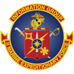 The official command seal for the II Marine Expeditionary Force Information Group.