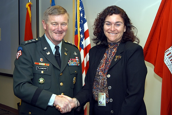 "Lt. Gen. Robert B. Flowers, Chief of Engineers, designated Patti Williams a ""Portland District Hero"" in 2004 for her consistently high standards resolving issues."