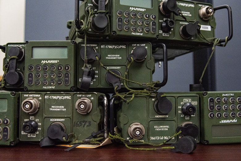 A picture of a stack of radios used by the C2 node.