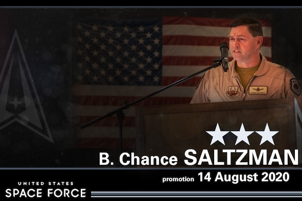 Maj. Gen. B. Chance Saltzman was the first U.S. Air Force general officer transferred and promoted to lieutenant general in the U.S. Space Force during a ceremony at the Pentagon Aug. 14.
