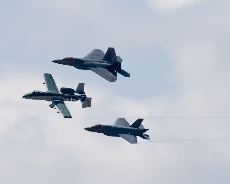 "F-35 Demo Team flies for the ""Wings over Warren"" drive-in air show"