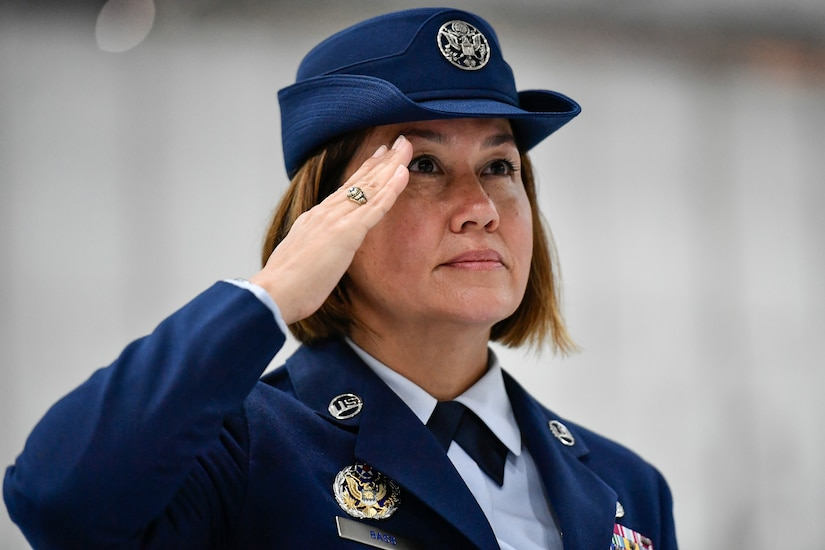 CMSgt Bass installed as the Air Force's 19th Chief Master Sergeant of the Air Force