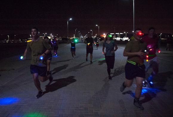 SAPR, SHARP host 'Got Your Six' Glow Run