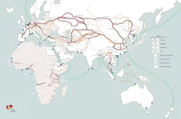 Map of BRI projects