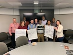 The DLA Energy Rocky Mountain West Bulk Petroleum Products Division holds team-building workshops in January 2020 to improve partnerships between vendors and DLA contracting representatives. Photo courtesy of DLA Energy Bulk Petroleum Products