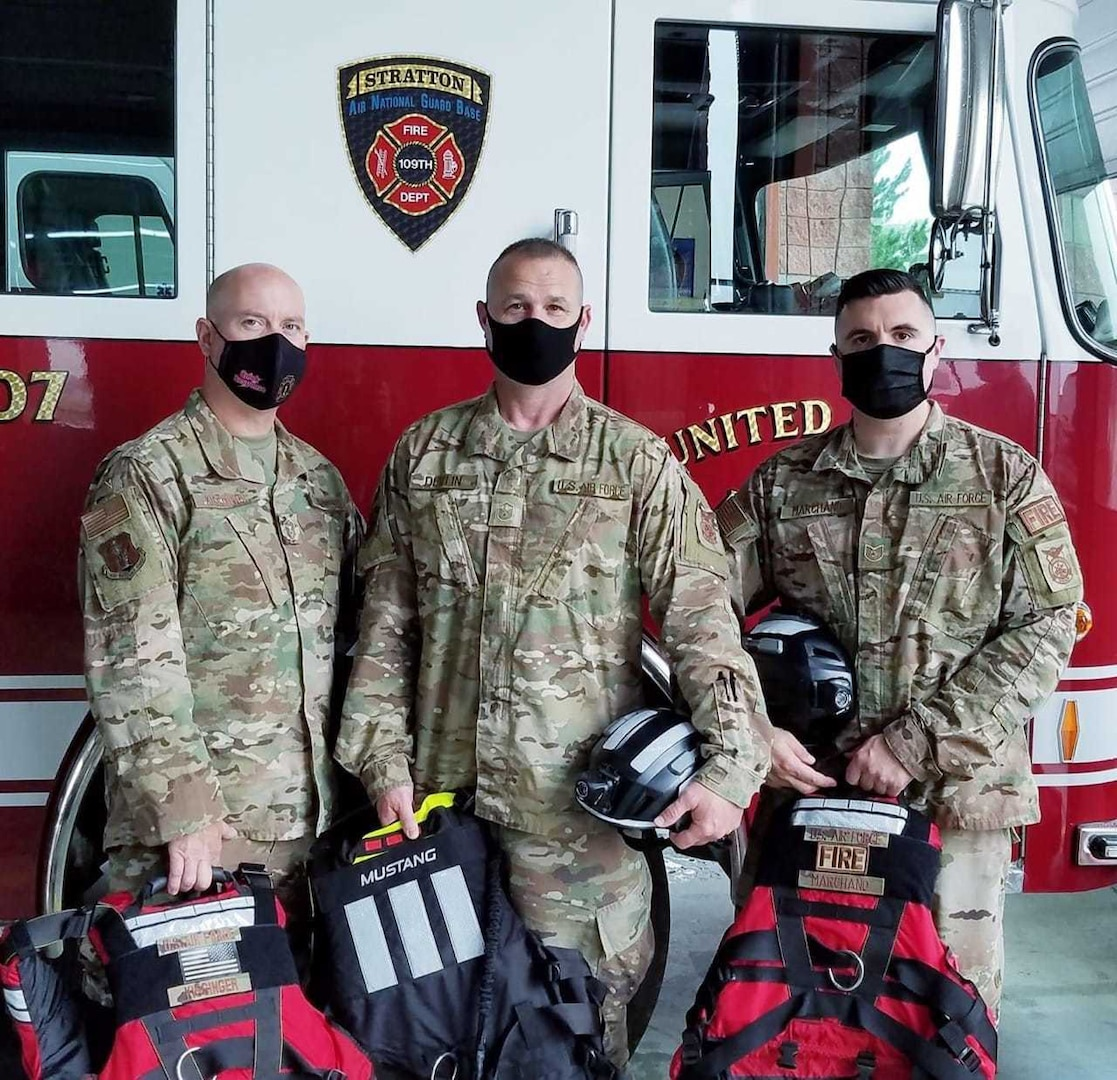 Airmen from the 109th Airlift Wing Fire Department are part of the Flood Incident Response Strike Team, Task Force 2, New York.