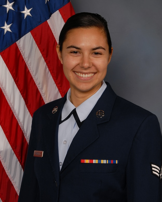 U.S. Air Force Senior Airman Christiana D. Bardsley poses for an official photo Jan. 5, 2020. Bardsley, of the 143rd Airlift Wing, Rhode Island Air National Guard, was selected as the Air National Guard 2020 Outstanding Airman of the Year. (Courtesy Photo)