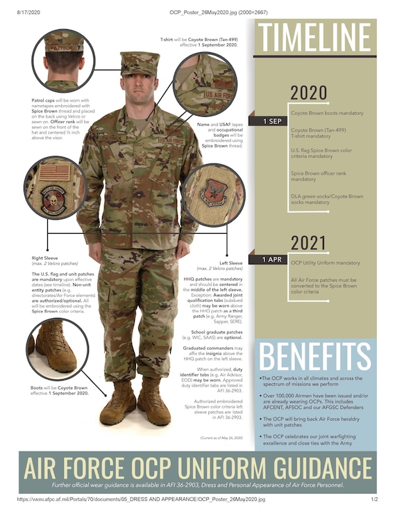 The next milestone for the OCP uniform happens on Sept 1st! This graphic has all the updated info on mandatory wear.
