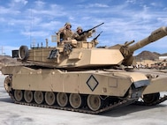 Tank on the Ramp during the change of command ceremony