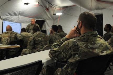 The 204th Maneuver Enhancement Brigade during annual training at Camp Williams, Utah, Aug. 2-15, 2020.