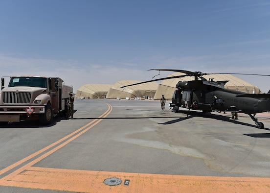 Prince Sultan POL Airmen fuel up UH-60