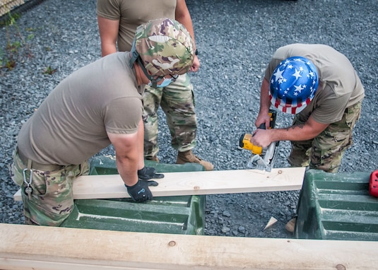 338th Engineer Company builds gazebo as part of annual training