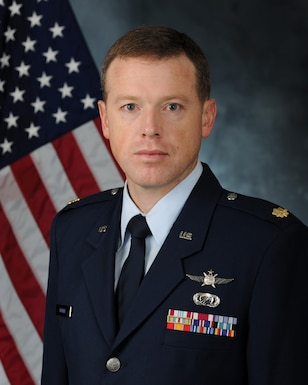 Maj. Michael Troyer, 52nd Network Warfare Squadron commander, stands for a photo February 2016 at Joint Base Andrews, Maryland. (U.S. Air Force courtesy photo)