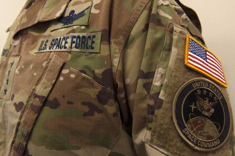 Space Force uniform.