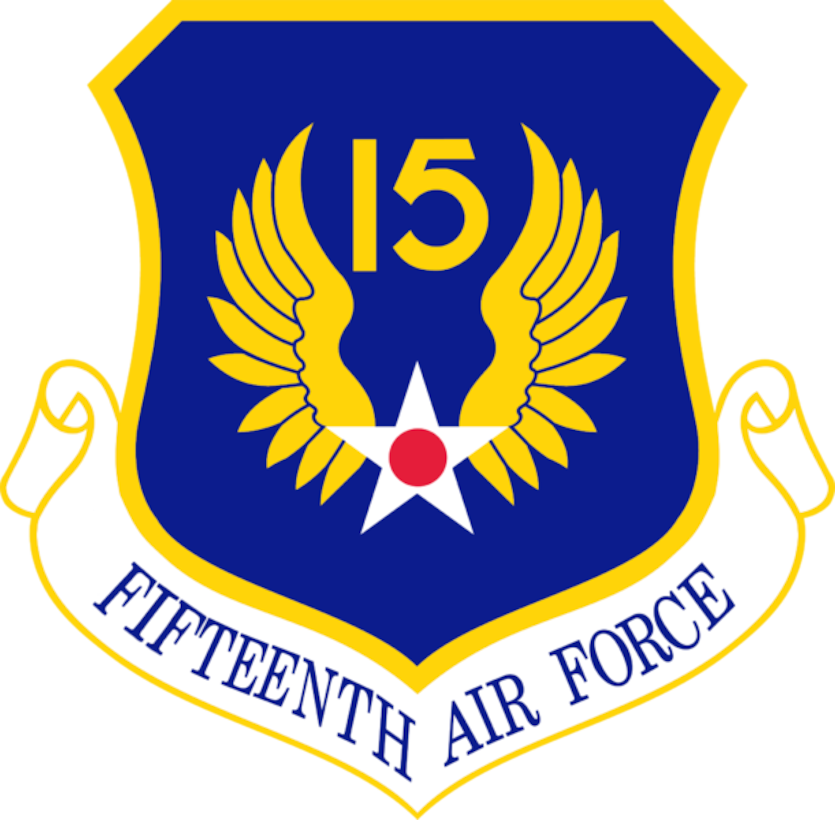 Graphic of the 15th Air Force patch.