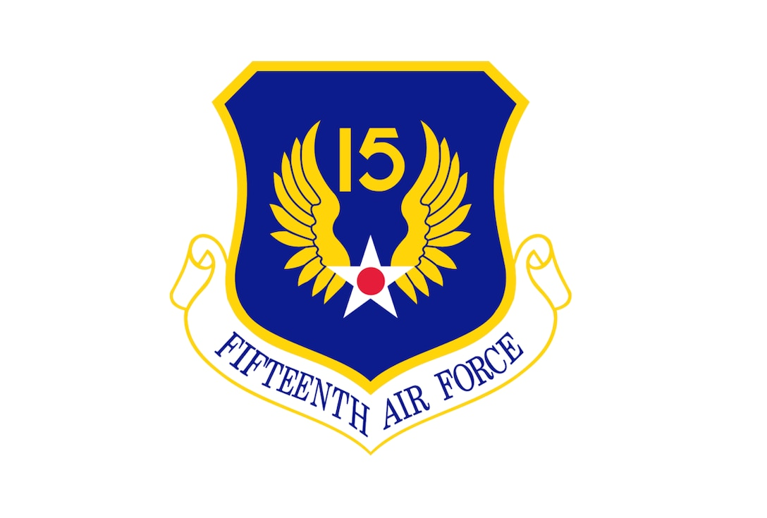 Graphic of the 15th Air Force shield.