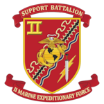 The official command seal for II MEF Support Battalion.