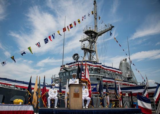 Mine Countermeasure ship USS Ardent (MCM 12) decommissioning