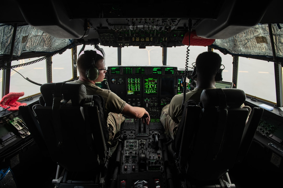 .S. Airmen assigned to the 353rd Special Operations Aircraft Maintenance Squadron conduct an engine test on an MC-130J Commando II July 30, 2020, at Kadena Air Base Japan. Maintainers ensure safe operation of the Commando II, which conducts infiltration, exfiltration, and resupply of U.S. and allied special operations forces.
