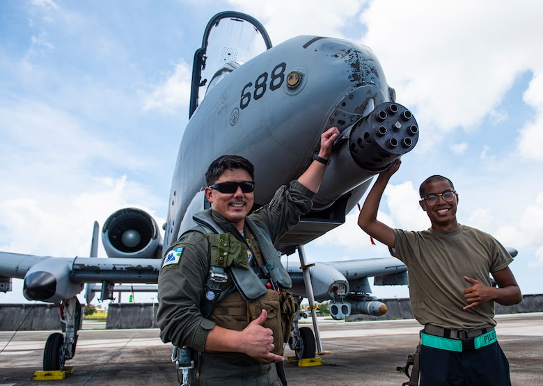 A-10s fly on Guam