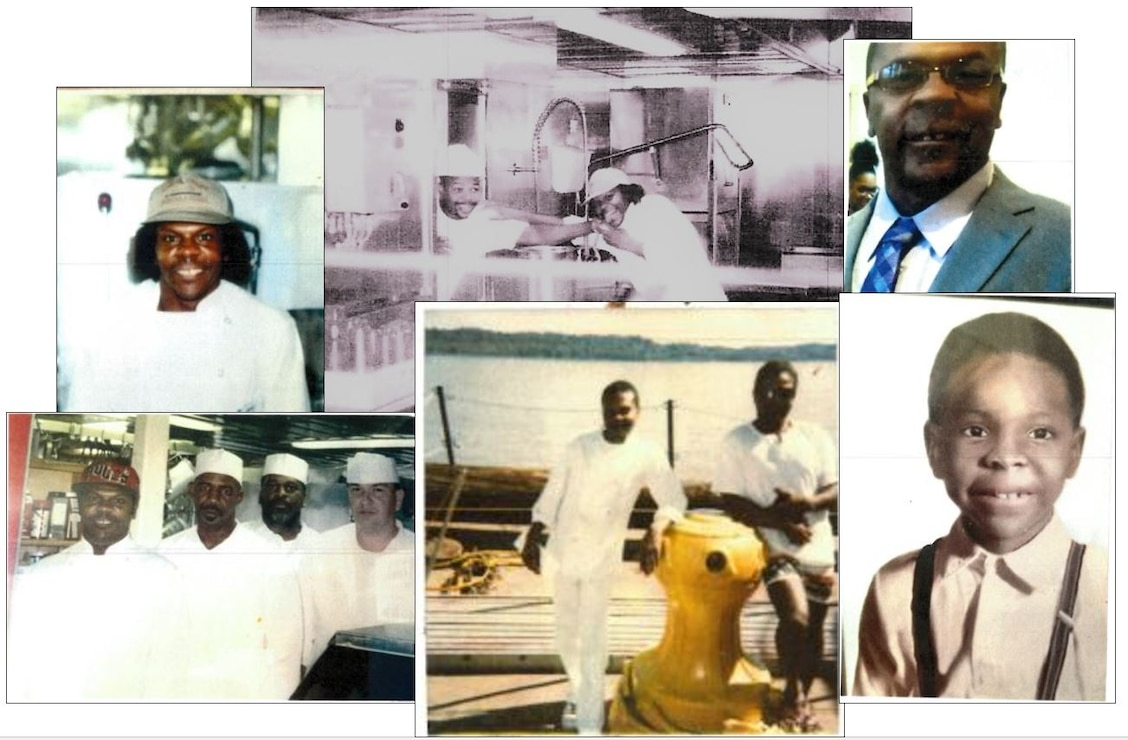 "IN THE PHOTOS, Dredge Hurley Ship Keeper Curtis Williams a.k.a. ""Lil Wolf"" as a child all the way up to his time working on the dredges Burgess and Hurley."