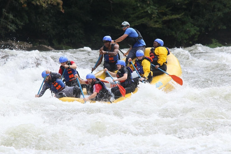 Whitewater rafting trip down the Lower Gauley river in West Virginia. Outdoor Rec White Water rafting trips include two nights of camping under the stars, camp cooking and a full day on the river experiencing up to Class 5 rapids. (Courtesy photo)