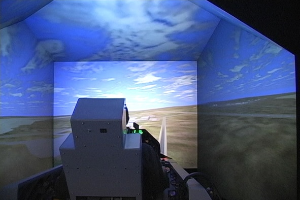 The 772nd Test Squadron's Integrated Facility for Avionics System Test (IFAST) utilizes simulators to provide to the Air Force Test Center a live, virtual, and constructive modeling and simulation system for a flight test environment. (Photo courtesy of 772nd Test Squadron)