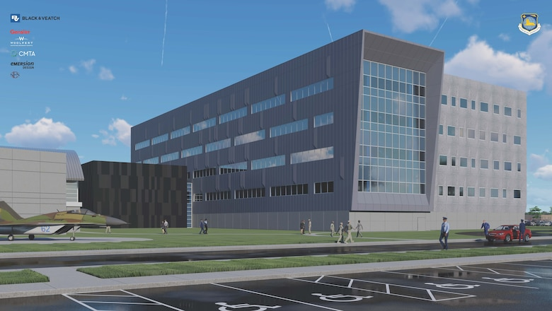 Artist rendering of the new National Air and Space Intelligence Center at Wright-Patterson Air Force Base, Ohio.