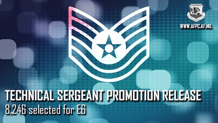 Blue graphic with Technical Sergeant Stripes
