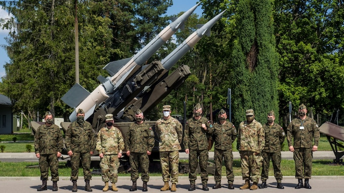Brig. Gen. Gregory Brady, the commander of the 10th Army Air and Missile Defense Command, visited Poland on Aug. 11-12 at the request of Polish Col. Kazimierz Dynski, commander of the 3rd Surface to Air Defense Brigade, in order to facilitate the planning and execution of future exercises in the European theater.