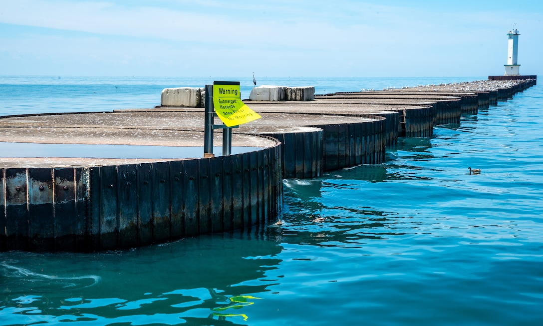 lorain harbor breakwater repairs
