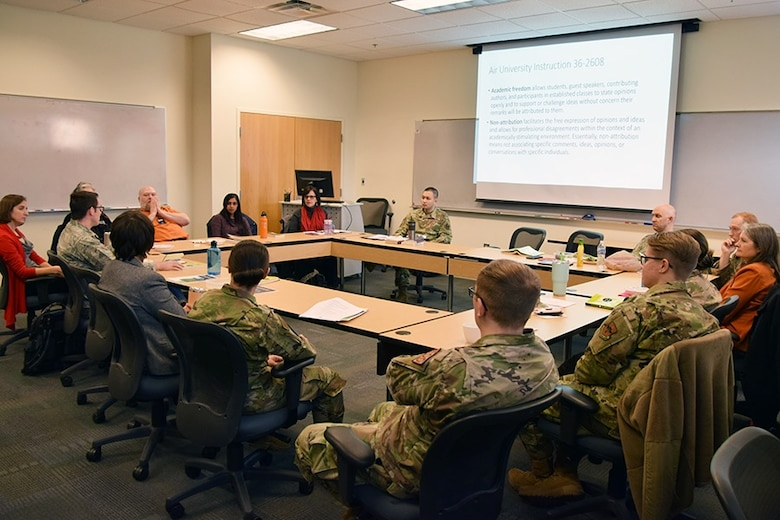 A joint Air Force Institute of Technology and Air Force Research Laboratory Diversity and Inclusion Book Club meeting was held in the Fall of 2019 (Courtesy photo)