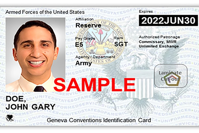 Sample of the Next Generation Uniformed Services ID card.