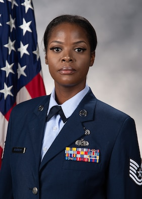 Official portrait of Tech. Sgt. Frances Rodgers. (U.S. Air Force photo by Roland Balik)